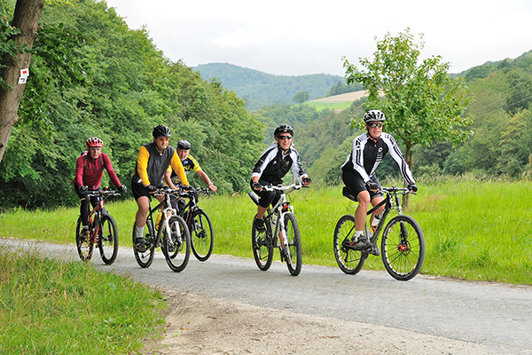 Mountain bikers in the Taunus